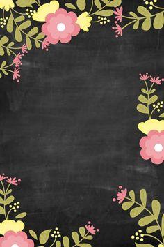Flower Wallpaper, Pattern Wallpaper, Wallpaper Backgrounds, Iphone Wallpaper, Printable Frames, Web Design, Borders And Frames, Floral Border, Flower Frame
