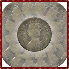 1886 2 Two Annas Queen Victoria Empress – Calcutta Mint -RARE♥♥