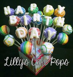 Rainbow Cake Pops Boquet