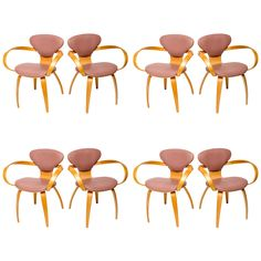 Normal Cherner Pretzel Chairs for Plycraft | From a unique collection of antique and modern dining room chairs at http://www.1stdibs.com/furniture/seating/dining-room-chairs/