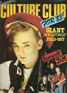 CULTURE CLUB - SUPERPOP  POSTER MAGAZINE 1983