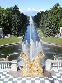 Fountains of Peterhof Palace, St. Petersburg, Russia