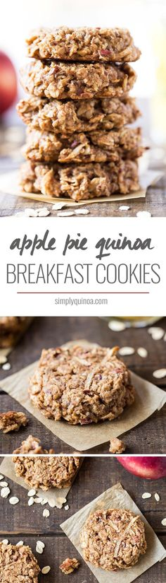 APPLE PIE QUINOA BREAKFAST COOKIES -- they taste like apple pie and are the perfect way to start your day!