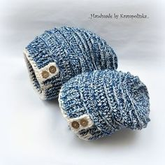 Easy slouchy hat in 5 sizes · Free Crochet Patterns Krampolinka Knitted Hats, Crochet Hats, Slouchy Hat, Crochet Clothes, Mittens, Color Combinations, Free Crochet, My Design, Rings For Men