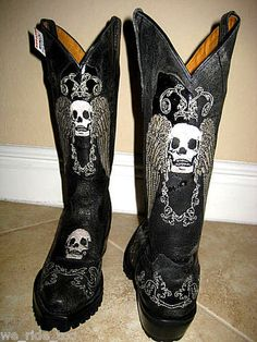 Jenna Skull Stud Tall Cowboy Boot - Women Boots And Booties | My ...