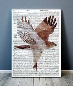 Gorgeous Polygonal print for your home and office. Bird Poster, Coffee Staining, Cubism, Bird Prints, Geometry, A4, Moose Art, Stains, Diy Crafts