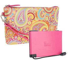 HALO Wristlet w/ 3000 mAh Cell Phone Charger & RFID Technology