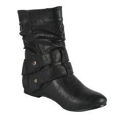 Bonnibel Bien-1N Women's Mid-Calf Boots, Color:Black, Size:6.5 -- Click on the image for additional details.