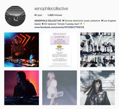 My Influencers: Xenophile Collective - Arts / Music / PerformersXenophile Collective is music to listen to and follow!   #art #artist #performers #soundproducer #undergroundmusic #femaledj #showbiz #xenophilecollective #myinfluencerblog