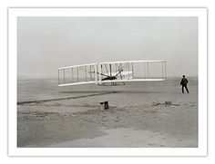 The Wright Brothers made history when their Wright Flyer took flight for the first time on December Wright Flyer, Hermanos Wright, National Aviation Day, Rare Historical Photos, Poster Store, Wright Brothers, Kitty Hawk, Photo Archive, Sisters