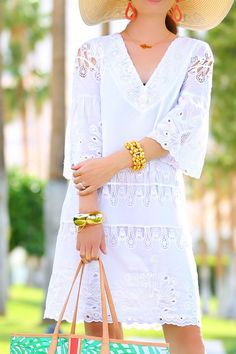 Pretty White Dresses For Spring - Kelly Golightly