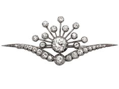 3.87 ct Diamond, 9 ct White Gold, Silver Set Brooch - Antique Victorian SKU: W6071 Price GBP £5,950.00 http://www.acsilver.co.uk/shop/pc/3-87-ct-Diamond-9-ct-White-Gold-Silver-Set-Brooch-Antique-Victorian-87p4468.htm#.VcCOyvlmqzQ