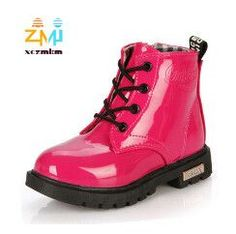 New Arrival Spring 2016 Children s Martin boots Kids Ankle boots Boys Girls  shoes Rain boots Patent leather Snow boots fff5ea650bfb