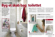 Få plads til mere: Byg et skab bag toilettet