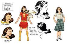 "Mary Marvel turnarounds for Convergence: SHAZAM! by Evan ""Doc"" Shaner"