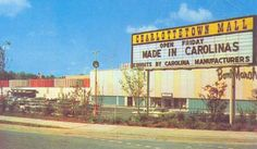 former Charlottetown Mall, Charlotte, North Carolina. Charlotte North Carolina, South Carolina, My Town, The Good Old Days, Back In The Day, Vintage Photos, Scenery, Earth, Paisajes