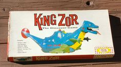 Vintage 1962 IDEAL KING ZOR BOARD GAME Rare Dinosuar Toy - not complete - PARTS #IDEAL