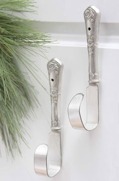 Silverware knives as hooks