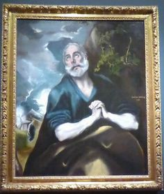 This is one of El Greco's favourite subjects. He painted at least six versions of The Tears of Saint Peter/ Image by Frances Spiegel with permission from The Wallace Collection.