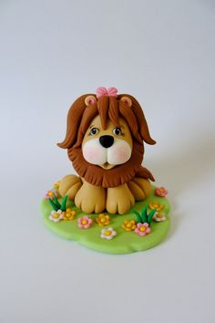 Edible Fondant Cake Topper Little Lion by SugarDoughDesigns, $23.00