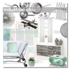 """Industrial Chic !"" by nucasa ❤ liked on Polyvore featuring interior, interiors, interior design, home, home decor, interior decorating, Sandberg Furniture, Sabichi, Safavieh and Royal Velvet"