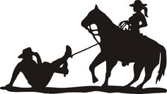 Cowgirl take a cowboy with a lasso Horse Silhouette, Wedding Silhouette, Silhouette Clip Art, Westerns, Plasma Cutter Art, Western Theme, Scroll Saw Patterns, Cowboy And Cowgirl, Pulp Art