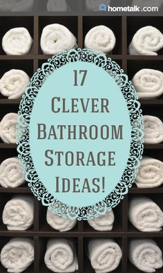 DIY Bathroom Ideas   17 Clever Bathroom Storage Ideas!