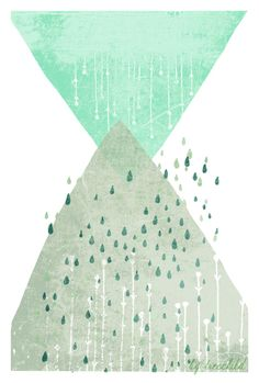 "Digitaldruck ""Regen"" // artprint ""rain"" by Fotos&Illustrationen by TreeChild via DaWanda.com"