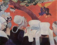 Paul Gauguin - La Vision après le Sermon (La Lutte de Jacob avec l'Ange), 1888.