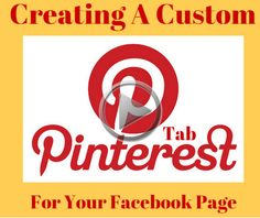 If you are the owner of the business or a blogger and you are on Facebook AND Pinterest, you want to consider linking your Pinterest Home Page to your Facebook Business Page. Why, you may ask. If you're on Pinterest and have set up your business page, it only makes sense to link the two together.and make it work to your advantage. Advertise on Facebook by installing the Pinterest Tab. https://youtu.be/O3L0N64sqfA
