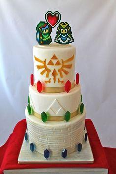 Zelda theme wedding cake