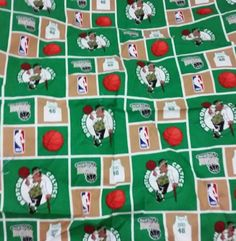 Check out this item in my Etsy shop https://www.etsy.com/listing/234589884/boston-celtics-basketball-fabric