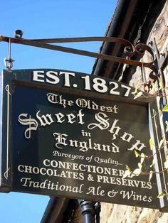 Sweet shop sign post