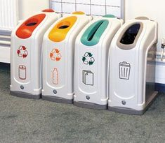 Recycling Station, Recycling Center, Recycling Bins, Trophy Design, Waste Container, Trash Art, Ads Creative, Trash Bins, Cafe Design