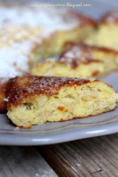 Omlet owsiany z jabłkiem Diet Recipes, Recipies, Cooking Recipes, Healthy Recipes, French Toast, Good Food, Food And Drink, Low Carb, Baking