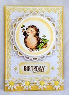 Penny Black butterfly hedgehog card