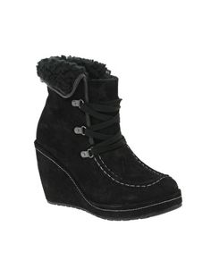 Fleece Lined Wedge boots... so cozy!