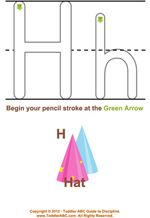 Learning To Write Trace The Letter H for Toddlers