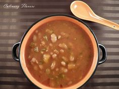 Fasolada.JPG | Delicious, warm, hearty cannellini beans soup perfect for cold winter days! | culinaryflavors.gr | #beans #soup #winterfood