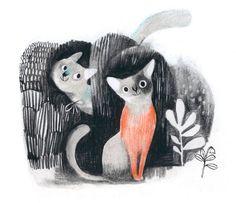 Isabelle Arsenault - образ кошки в искусстве