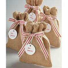 Favor Bags To Send Cookies Home From The Holiday Party