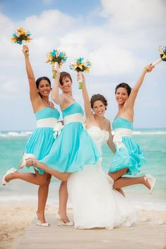15 Most Incredible Teal Bridesmaid Dresses You Must See | Wedding Dresses Guide Tiffany Blue Bridesmaid Dresses, Beach Bridesmaid Dresses, Beautiful Bridesmaid Dresses, Wedding Dresses, Blue Dresses, Pretty Dresses, Chiffon Dresses, Junior Dresses, Prom Dresses