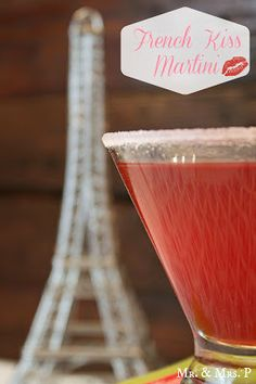 French Kiss Martini ~ Made with pineapple juice, Chambord and Triple Sec.
