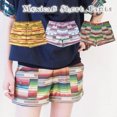 Amazon.co.jp: メキシカン ショートパンツ (レディース) アジアンファッション エスニックファッション (オレンジ): 服&ファッション小物通販
