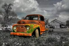 Rusted old truck