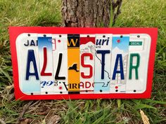 ALL STAR Kid's Room Recycled LICENSE Plate Art by CustomPlateArt4U, $35.00