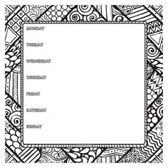 TF Publishing Color Me Weekly Non-Dated Adhesive Desk Pad, x Black/White Desk Pad, Ppr, Ethnic Patterns, To Color, Coloring Book Pages, Journal Pages, Journals, Bullet Journal Inspiration, Creative Thinking