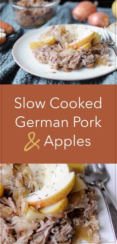 Imagine Walking In the Door To Slow Cooked German Pork Gluten Free Recipes For Dinner, Foods With Gluten, Dinner Recipes, Dinner Ideas, Bean Recipes, Fall Recipes, Oktoberfest Food, Cooked Apples, Food Preparation