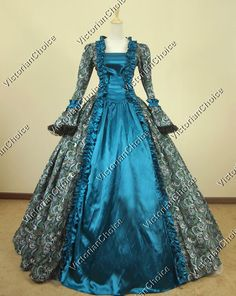 Victorian Georgian Period Dress Prom Ball Gown Reenactment Theatre Quality 119 L #VictorianChoice #Dress Mom, I'm just Kiddingggg