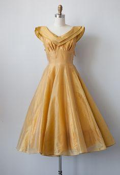 vintage 1950s party dress | DANSE SOLEIL dress